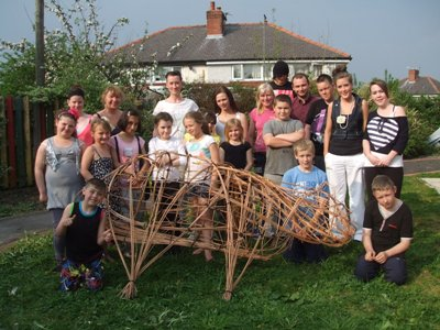 Young people from the Meadows with their sheep