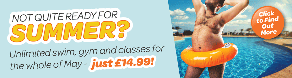 Not quite ready for summer? Use our leisure centres for the whole of May for just £14.99!