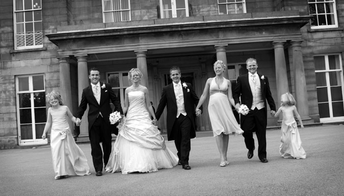 Weddings are always a big celebration at Haigh Hall