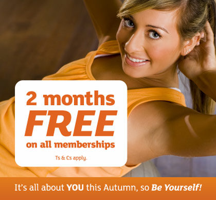 Get two months free on all leisure centre memberships!