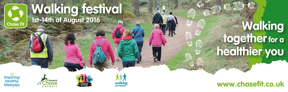 Enjoy the great outdoors with August's Chase Fit Walking Festival. Click to find out more...
