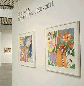 Gillian Ayres exhibiting at the Turnpike Gallery