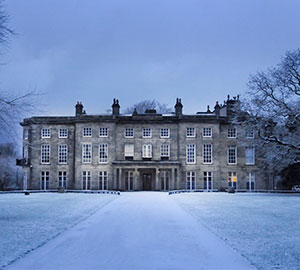 Haigh Hall in winter