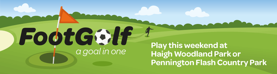 FootGolf - available now at Pennington Flash Country Park and Haigh Woodland Park