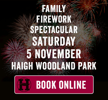 Join us on 5 November at Haigh Woodland Park for the Family Firework Spectacular
